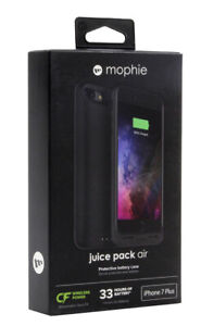 New Mophie Juice Pack Air Battery Case For Apple iPhone 7 Plus and 8 Plus Black