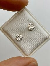Trillion cut faceted Herkimer Diamonds & Sterling Silver Earrings .78ct, Radiant