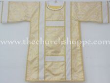 Spanish Dalmatic Metallic Yellow vestment,Deacon's stole & maniple ,chasuble,NEW