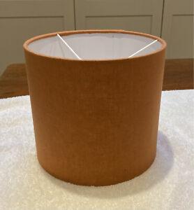 "Burnt Orange 20cm Lampshade brand new cotton linen fabric (8"" W x 7"" L)"