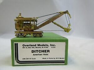 OVERLAND MODELS OMI 2801/N SCALE AMERICAN HOIST DITCHER  NIB