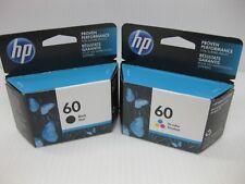 HP 60 Ink Set Lot Tri-Color & Black Genuine New ** MINT BOXES ** Date: Feb 2020