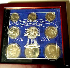 The Complete Bicentennial Mint Mark Set: 1976 in Custom Wooden Display Case
