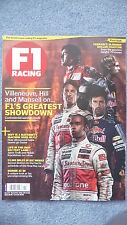F1 Racing Magazine for the Month of November 2010. Excellent Condition