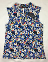 Tommy Hilfiger Women's Tie Front Floral Print Top Blouse Size M Medium