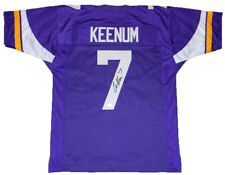 CASE KEENUM SIGNED AUTOGRAPHED MINNESOTA VIKINGS #7 PURPLE JERSEY JSA