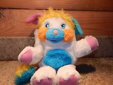 "Vintage Popples Plush White Puffball Popple Yellow Hair approx. 12"" 1985"