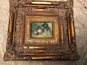 Painting.Vintage  Miniature Oil on board.