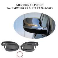 Für BMW E84 X1 F25 X3 11-13 Carbon Fiber Spiegelkappen Gehäuse Außenspiegel Paar