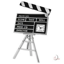 DIRECTOR CLAP BOARD MINI CLOCK DESKTOP MOVIE COLLECTIBLE GIFT IDEA