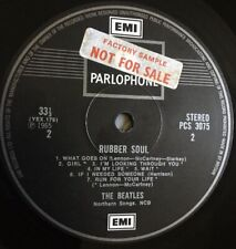 THE BEATLES . Rubber Soul LP . not for sale - factory sample . NM vinyl