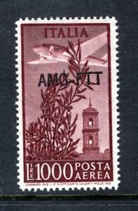 CHOICE Italy Trieste Zone A C26,MINT NEVER HINGED, .Mi 174 Air Post 1952, 1000L