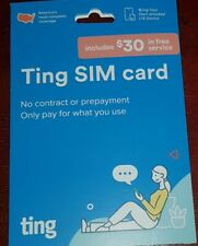 Ting GSM 3 in 1 SIM Mobile Starter Kit with $30 Ting Credit