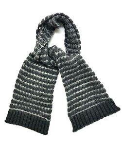 Rag & Bone New York Grey Wool Blend Scarf