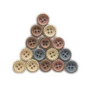 50pcs Round Wood Buttons Sewing Scrapbooking Clothing Crafts Handmade 12/15mm
