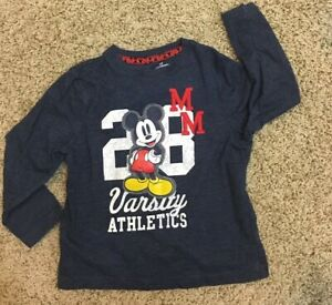 Disney Jumping Beans Mickey Mouse MM 28 Varsity Athletes Graphic T-Shirt Boys 4T