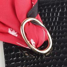 Silk Brooch Ring Party Scarf H5E1 Elegant Women Buckle Holder Clip Scarves