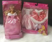 Vintage Disney Store Princess AURORA Sleeping Beauty Doll & Fashion Set NEW