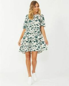Macy Dress in Emerald Abstract by SASS*