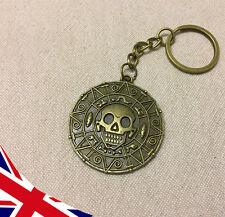 Pirates of the Caribbean Keyring - Jack Sparrow - POTC- Aztec Bronze Skull Coin