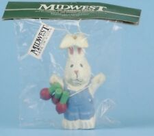 Midwest of Cannon Falls Easter Ornament Bunny Rabbit Holding Turnips New In Pack