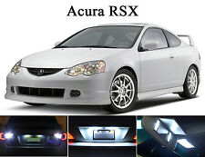 Xenon White LED Package - License Plate + Vanity + Reverse for Acura RSX (8 Pcs)