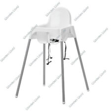 IKEA BABY HIGHCHAIR WITH SAFETY STRAPS ANTILOP WHITE BABY HIGH CHAIR PLASTIC