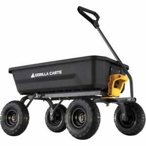 Gorilla Carts 4 Cu. Ft. 600 Lb. Poly Garden Cart GCG-4  - 1 Each