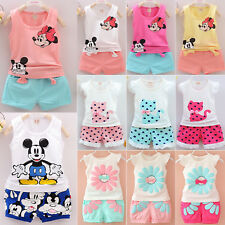 Kids Toddler Baby Girl Summer Outfits Clothes T-shirt Tops+Shorts Pants 2PCS Set