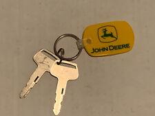 John Deere Rubber Keychain With 2 Keys