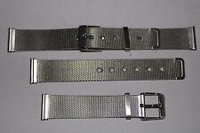 18mm Cinturino Maglia di qualità in acciaio inox GRATIS P&P. (AA)