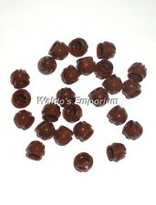 Lego 1x1 PLATE ROUND SWIRL TOP REDDISH BROWN, 15470 Lot of 25, New