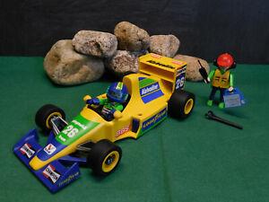 Playmobil Formel-1-Rennwagen (gelb) 3603-A/1994, Komplett-Set ohne OVP!