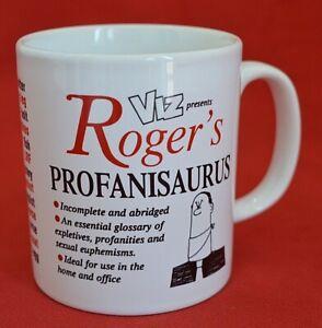 VINTAGE STAFFORDSHIRE TABLEWARE MUG - 'VIZ PRESENTS:  ROGER'S PROFANISAURUS!'