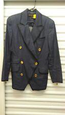 Donna Karan Designer Limited Black Label Womens Jacket Blazer Coat Denim