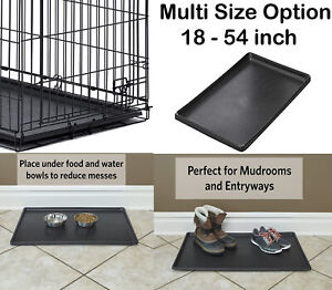 24 inch Pet Folding Dog Crate  Cage Kennel Plastic Pan tray Floor NEW