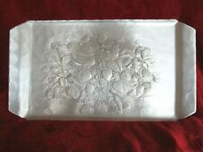 """Wendell August Hand Crafted """"Strawberry"""" Aluminum Tray"""