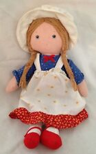 "Multicolor 12"" Knickerbocker Holly Hobby Rag Doll with Braids"