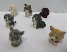 MEG POCKETVILLE Puppy In My Pocket Flocked Animal Family MIXED BREED DOG LOT 7