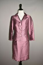 RICKIE FREEMAN TERI JON $885 Silk Wool 2 Piece Evening Dress & Jacket Size 2 / 4