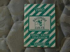 1950 BALTIMORE COLTS MEDIA GUIDE Yearbook FIRST NFL SEASON Press Book Program AD