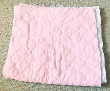 """Pink Double Faced Pre Quilted Fabric about 39.5x35.5"""" flower shape"""