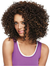Brown Fashion Women's African Small Roll Hair Heat Resistant Synthetic Full Wig