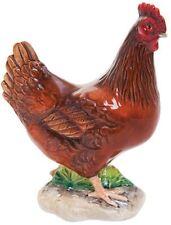New boxed John Beswick Rhode Island Red hen farmyard bird figure