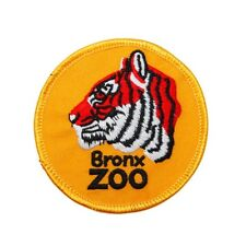 "New York City ""Bronx Zoo"" Travel Patch Tiger Logo Park Souvenir Iron-On Applique"