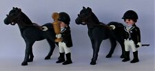 Playmobil Country   2 x Female Equestrian Riders & Horses  Good Condition