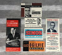 Vintage Chicago Illinois 1962 Election Campaign Cards Brochures Elections 1962