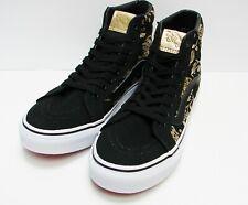 784ee42e90 Vans SK8 Hi Slim 50th Duke Black Gold Foil VN00018IJ7B Women s Size 8