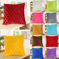 "17""x17"" Fleece Square Throw Pillow Case Sofa Waist Back Cushion Cover Home Decor"