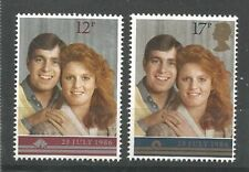 GB MNH STAMP SET 1986 Royal Wedding SG 1333-1334 UMM